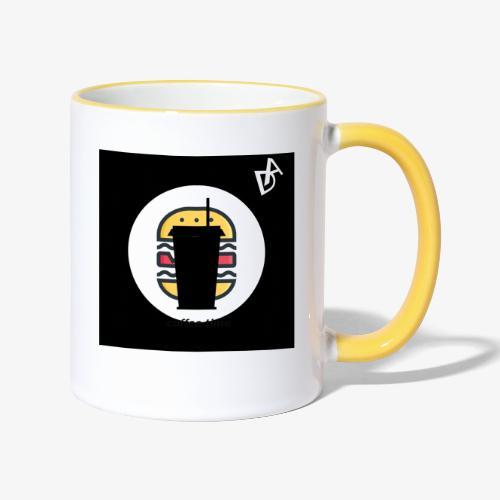 coffee burger DA - Tasse zweifarbig