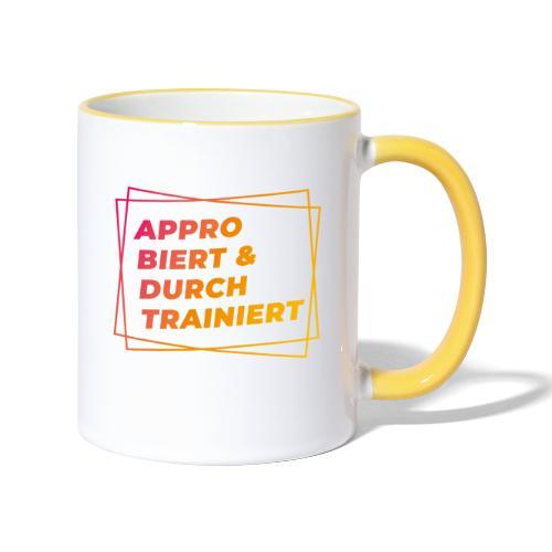 Approbiert & durchtrainiert (DR2) - Tasse zweifarbig