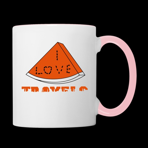 I LOVE TRAVELS FRUITS for life - Contrasting Mug