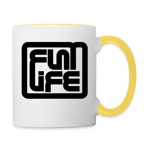 Flatlife Records BLACK - Contrasting Mug