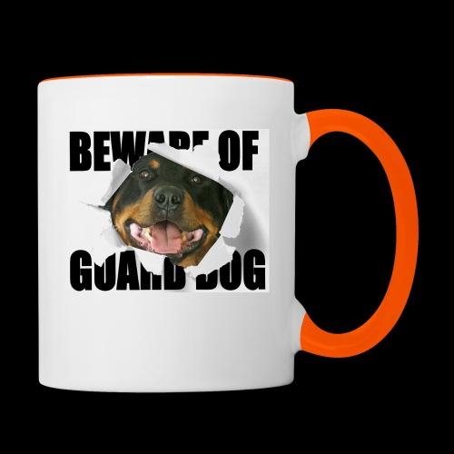 beware of guard dog - Contrasting Mug
