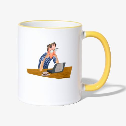 Kaffe - Tvåfärgad mugg