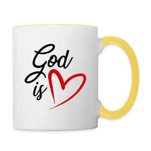 God is love 2N - Tazze bicolor