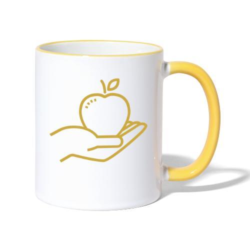 Äpplet - Tvåfärgad mugg