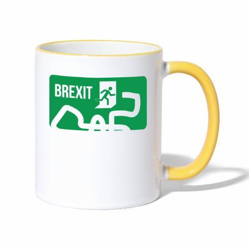 Brexit Exit Sign - Contrasting Mug