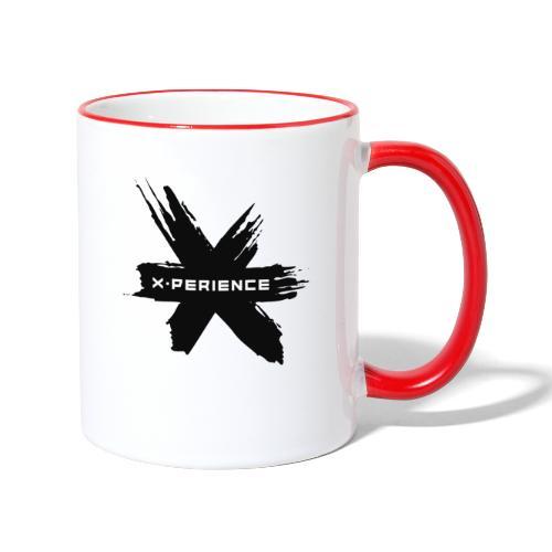 x-perience - Das neue Logo - Tasse zweifarbig