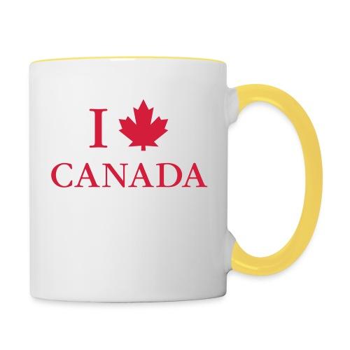 I love Canada Ahornblatt Kanada Vancouver Ottawa - Contrasting Mug