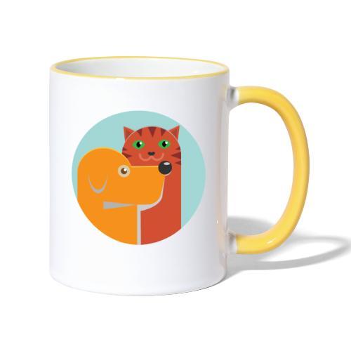 Tierfreund - Tasse zweifarbig