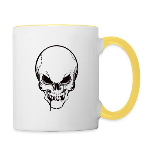 Kaffee aus deinem Schädel - Tasse zweifarbig