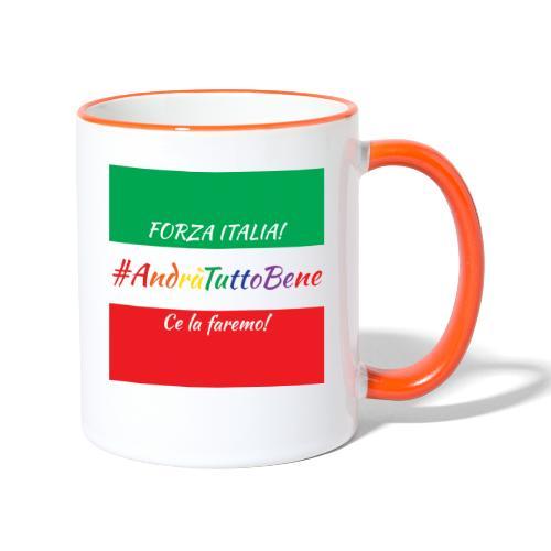 Andrà Tutto Bene con Bandiera per Tazze - Tazze bicolor