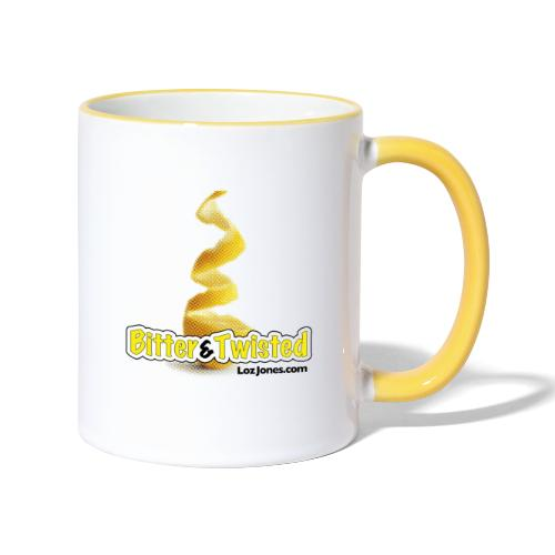 'Bitter And Twisted' Peel Design - Contrasting Mug