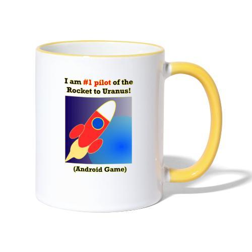 Rocket to Uranus - Kaksivärinen muki