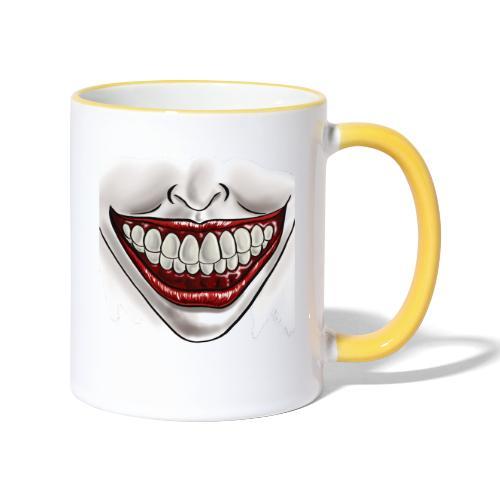Smile Maske - Tasse zweifarbig