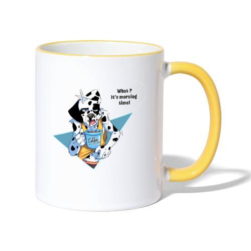 Dalmatien avec son café du matin - Mug contrasté