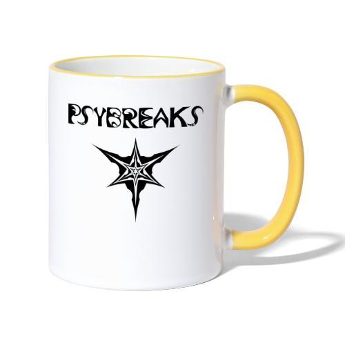 Psybreaks visuel 1 - text - black color - Mug contrasté
