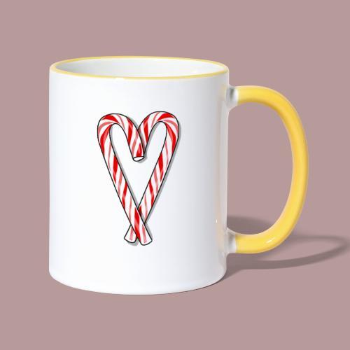 Sucre d'orge en forme de coeur - Mug contrasté