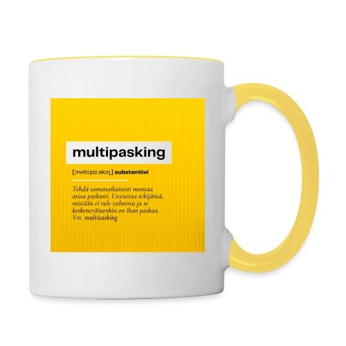 Multipasking muki - Kaksivärinen muki