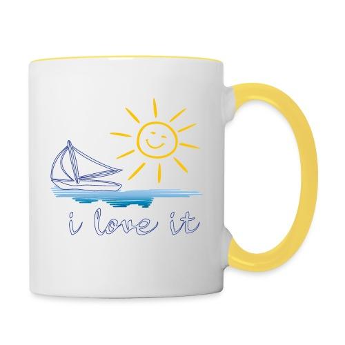 Segeln, Urlaub, Sommer - Tasse zweifarbig
