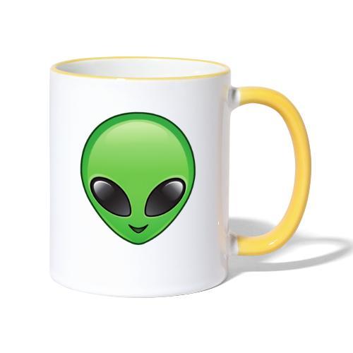 Alien face - Tvåfärgad mugg