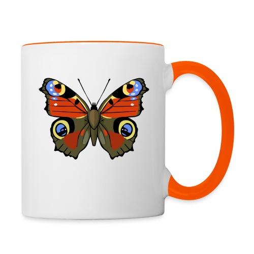 vlinder1_d - Mok tweekleurig