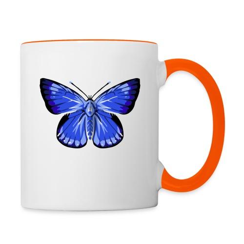 vlinder2_d - Mok tweekleurig