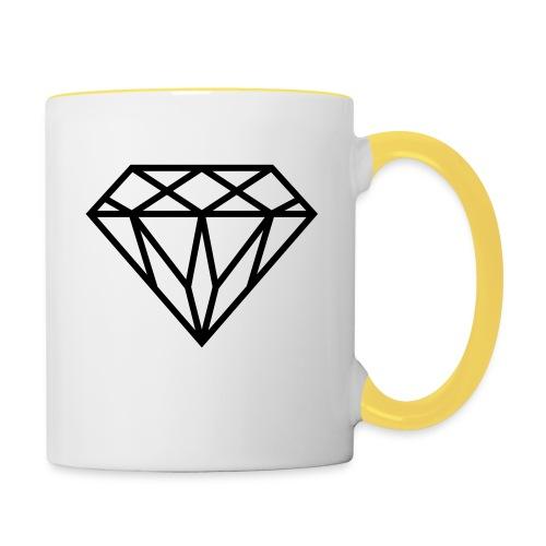 Diamond Graphic // Diamant Grafik - Tasse zweifarbig