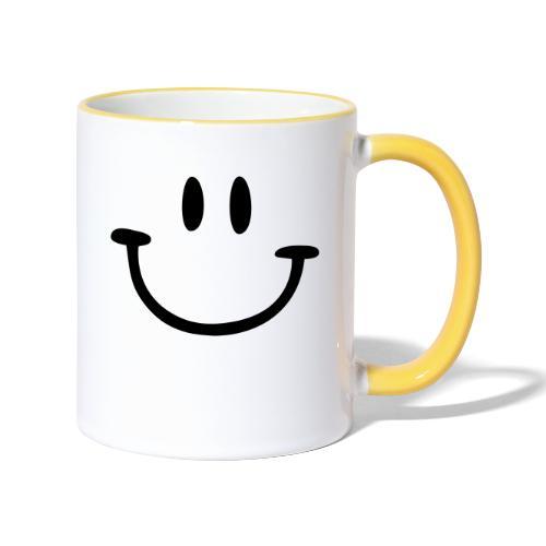 ptb smiley face - Contrasting Mug