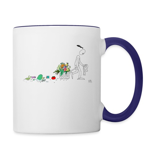 frukt og grønt handleveske - Tofarget kopp