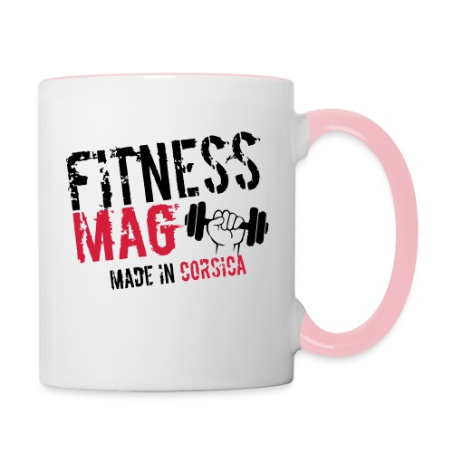 Fitness Mag made in corsica 100% Polyester - Mug contrasté