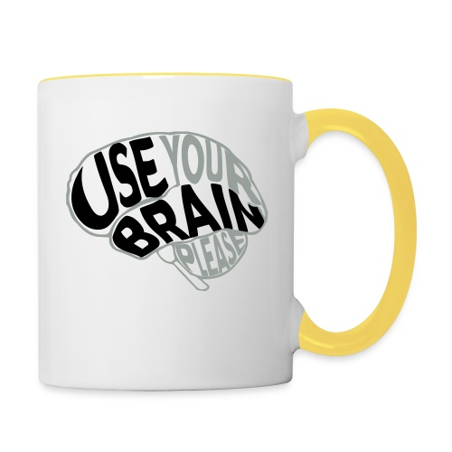 Use your brain - Tazze bicolor