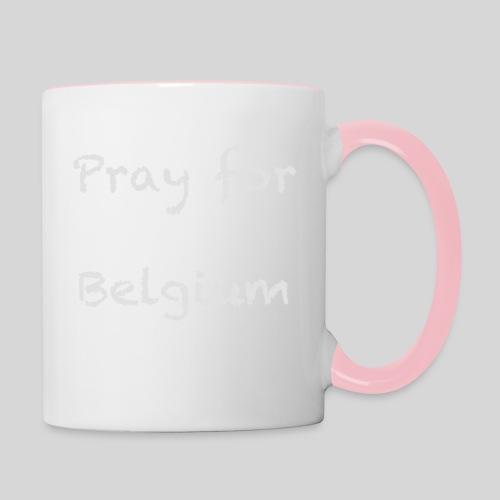 Pray for Belgium - Mug contrasté