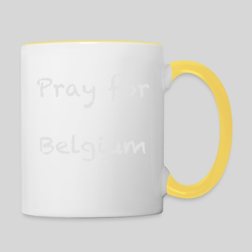 Pray for Belgium - Mug contrasté