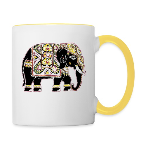 Indian elephant for luck - Contrasting Mug