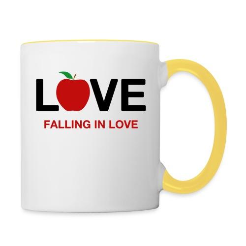 Falling in Love - Black - Contrasting Mug