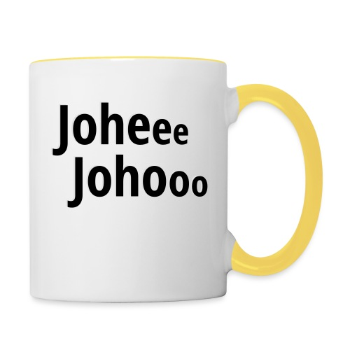 Premium T-Shirt Johee Johoo - Mok tweekleurig