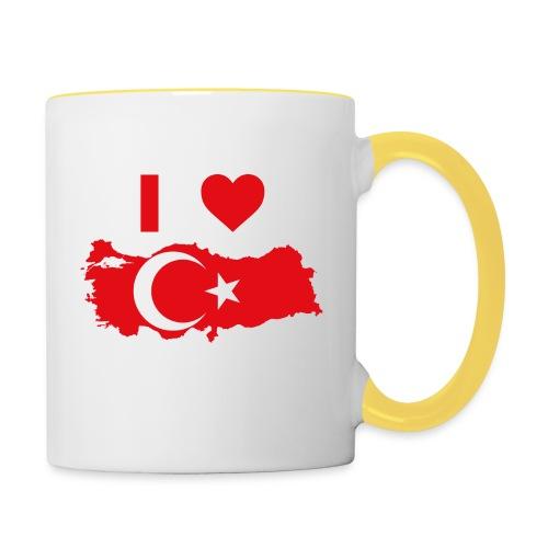 I LOVE TURKEY - Mok tweekleurig