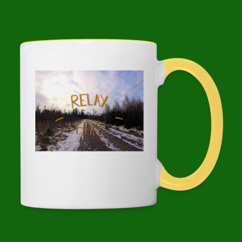 Relax and take a hike - Contrasting Mug