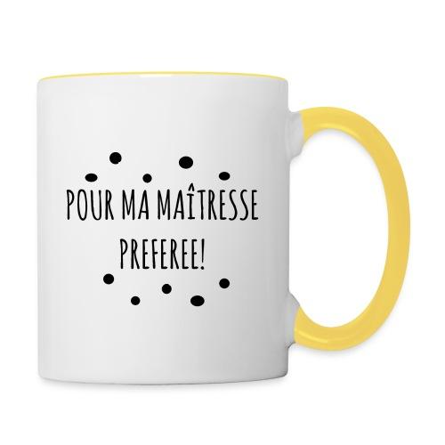 cadeau maîtresse - Mug contrasté