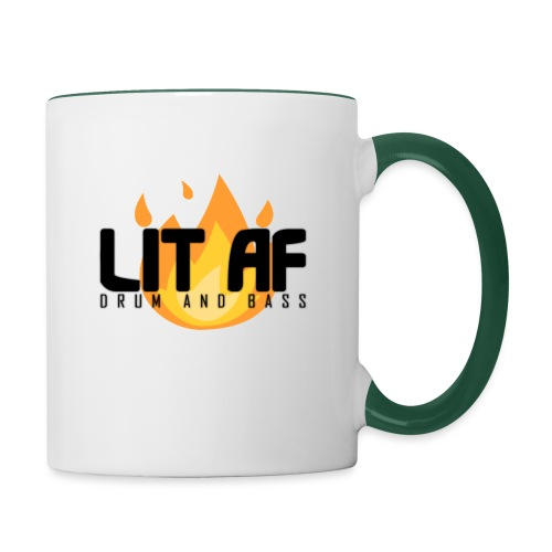 LIT AF Drum and Bass - Tasse zweifarbig