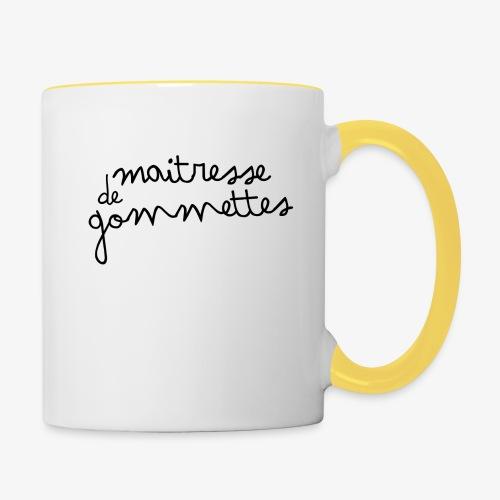 Maitresse de Gommettes - Mug contrasté