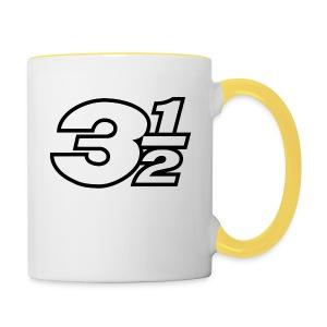 Three and a Half Logo - Contrasting Mug