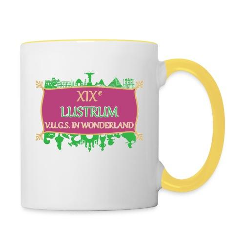 lustrum logo kleur Transparant - Mok tweekleurig
