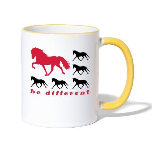 be different - Tasse zweifarbig