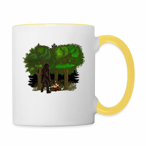 Bigfoot Campfire Forest - Contrasting Mug