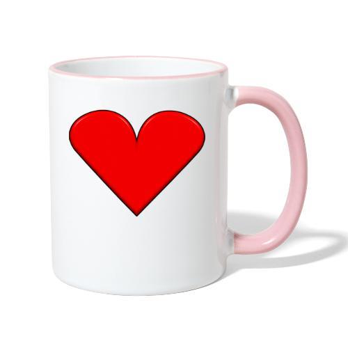 Herz - Tasse zweifarbig