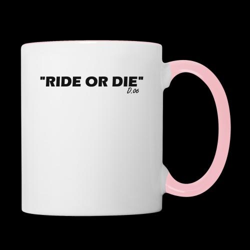 Ride or die (noir) - Mug contrasté