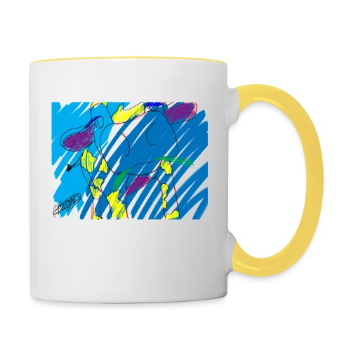 Signed Rainbow Cow - Contrasting Mug