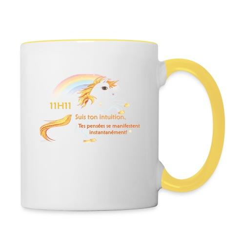 11h11 licorne or - Mug contrasté