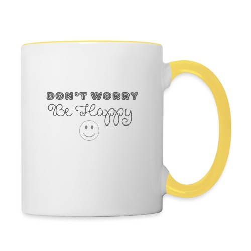 Don't Worry - Be happy - Contrasting Mug
