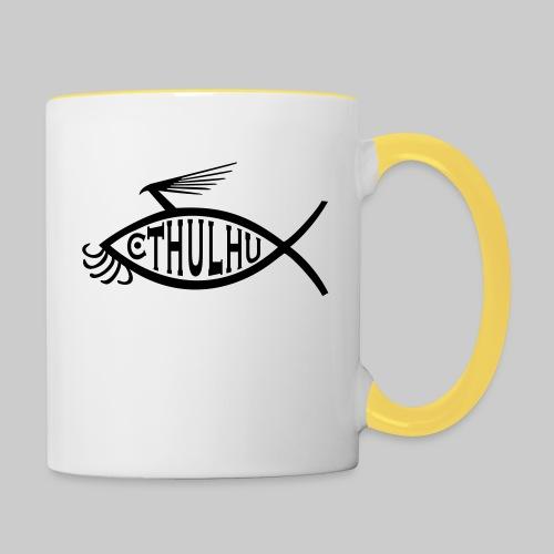 Cthulhu Fisch nP - Tasse zweifarbig